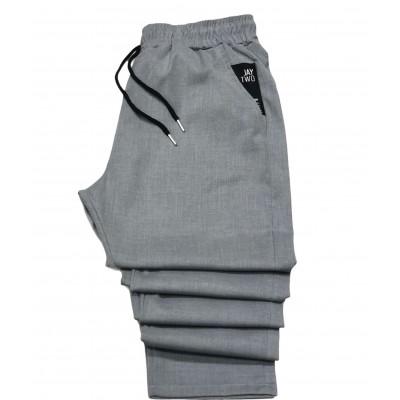 J-TWO 2127 GREY Ανδρικό παντελόνι με λάστιχο στη μέση